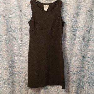 Black and white heathered wool dress